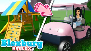 BLOXBURG UPDATE! Playground, Golf Carts, Trampolines & MORE! Roblox Summer Building