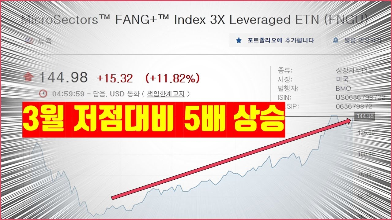 미국주식 추천 MicroSectors™ FANG+™ Index 3X Leveraged ETN (FNGU) 수익후기 (Feat. 씹개미 땡큐)