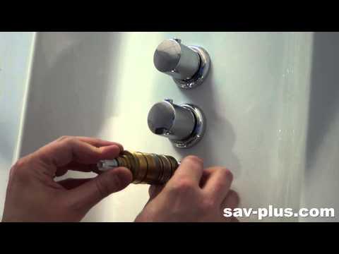Astuce installation mitigeur et inverseur doovi - Cartouche thermostatique pour colonne de douche ...
