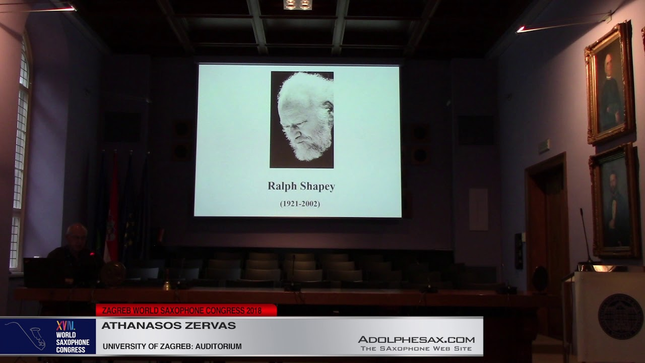 Lecture: Analisys of the Concertante  nº2 by Ralph Shapey   Athanasios Zhervas   XVIII World Sax Con