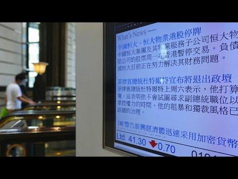 Le géant chinois de l'immobilier Evergrande suspend ses opérations à la Bourse de Hong Kong
