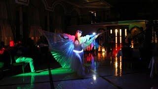 Aziza шоу-группа Рахат Лукум танец живота в VIP караоке-клубе Ля-Мажор Краснодар светодиодное шоу