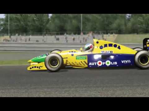 Assetto Corsa - Jordan 191 vs. Benetton B191 - Hotlap Comparison