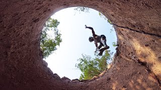 Building The Most Ancient Waterhole With Secret Underground Tunnel To Escape The Enemy