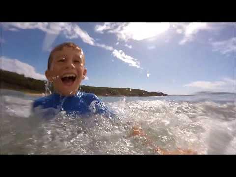 Kids Surfing at Agnes Waters Queensland Australia