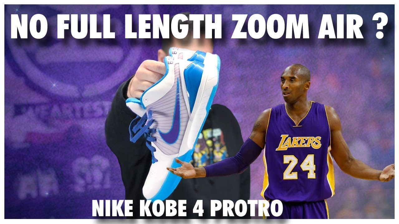 db821c22369a No Full Length Zoom Air in the Nike Kobe 4 Protro - YouTube