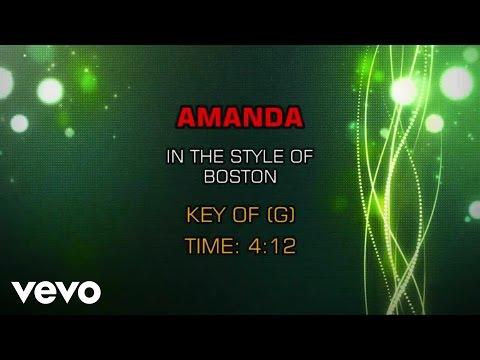 Boston - Amanda (Karaoke)