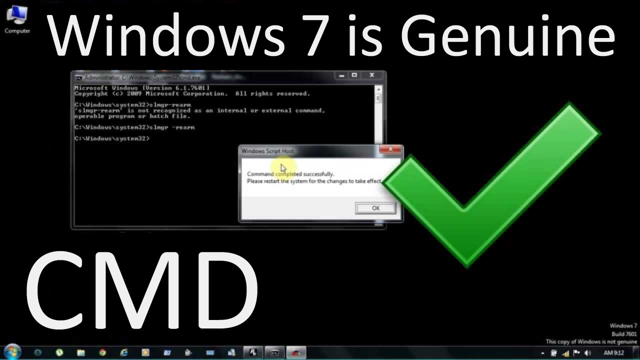 Easy Fix : How to make Windows 7 Genuine? | How to make windows 7 activated?