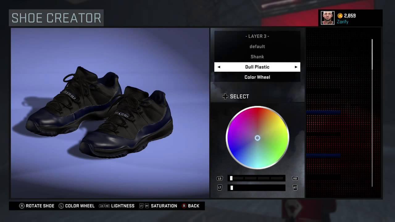 ac83e0c05dc4 NBA 2K16 Shoe Creator - Air Jordan 11 Low Custom