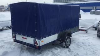 Прицеп для перевозки снегохода модель Е2 от компании GTS-trailer(Прицеп предназначен для перевозки снегохода или грузов до 500кг. Размер кузова 3,5х1,6х1,5м, рессорная подвеска,..., 2016-12-26T06:23:43.000Z)