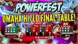 POWERFEST OMAHA H/LO FINAL TABLE!!! PokerStaples Stream Highlights