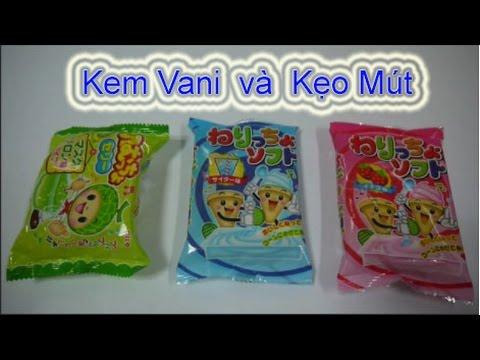 Đồ chơi trẻ em Nhật Bản - làm Kem Vani và Kẹo mút dâu