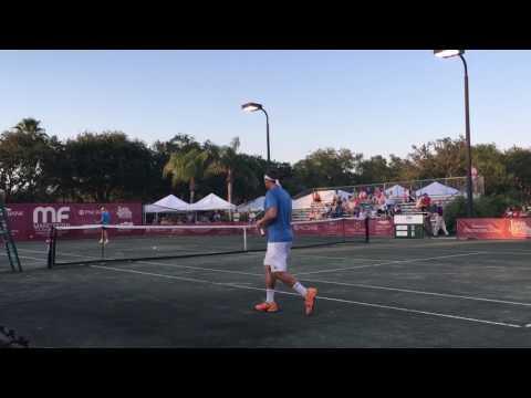 Night Match, 7 pm Start, Mardy Fish Tennis at Grand Harbor