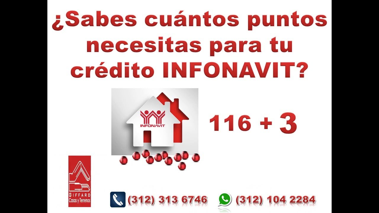 Puntos Infonavit 116 3 Youtube