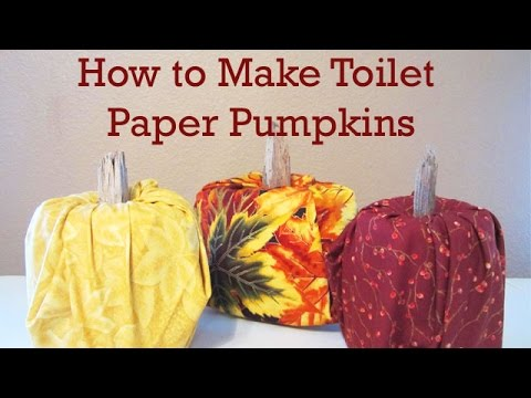 How to Make a Toilet Paper Roll Pumpkin - No Sewing Required!