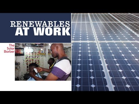 Renewables at work - The Solar Barber