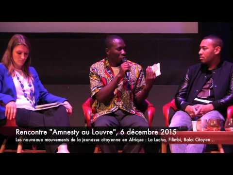 """""""Amnesty au Louvre"""", Mouvements de la jeunesse citoyenne en Afrique"""