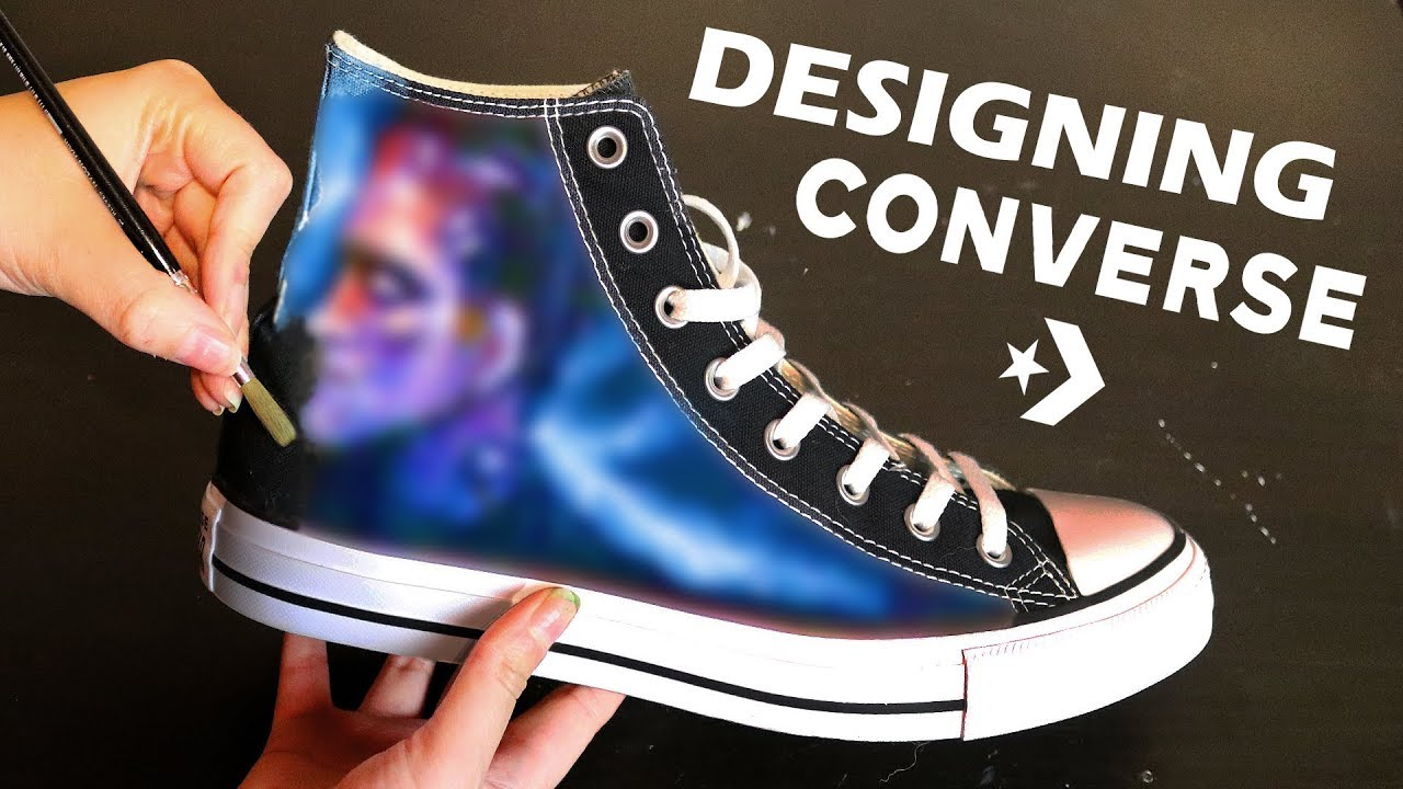 1446bde1b52044 Painting and Designing Customized Converse - YouTube