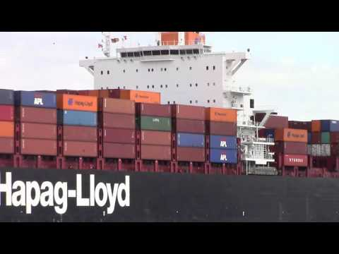 Container Ship COLOMBO EXPRESS inbound into Halifax - Under MacKay Bridge (Sept 1, 2015)