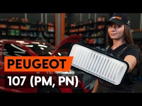 Как заменить воздушный фильтр двигателя на PEUGEOT 107 1 (PM, PN) [ВИДЕОУРОК AUTODOC]