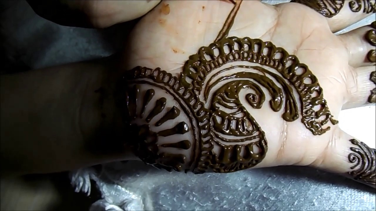 Step By Step Easy Latest Arabic Mehndi Design For Left Hand