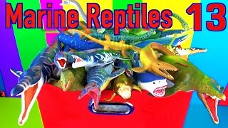 DINOSAUR Box 13 TOY COLLECTION - MARINE REPTILES MOSASAURUS Unboxing Toy Review SuperFunReviews