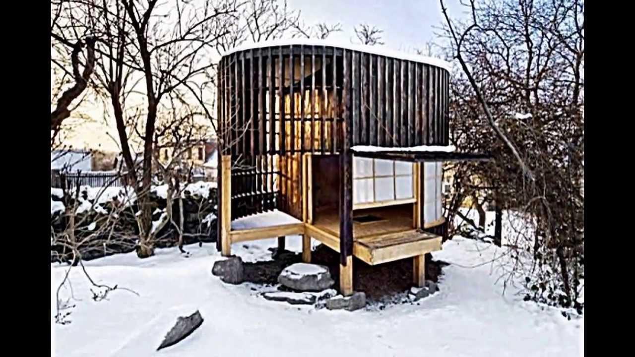 Minimalistisches teehaus im garten f r gesellige stunden mit freunden youtube - Japanisches gartenhaus ...