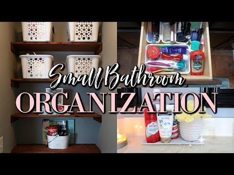 SMALL BATHROOM ORGANIZATION IDEAS 2018 | ORGANIZATION TIPS & TRICKS |KEEP CALM AND CLEAN
