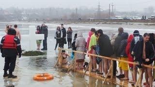 Крещение в Киеве. Гидропарк 2017.01.19