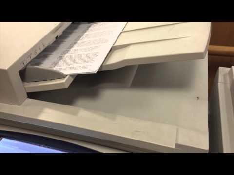 Photocopying a document