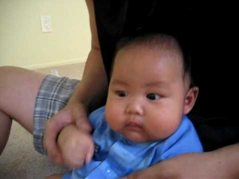 Cute fat chinese baby