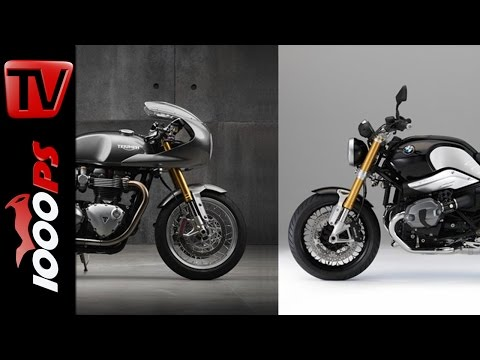 Triumph Thruxton R vs. BMW R nineT Vergleich | Onboard MotoVlog