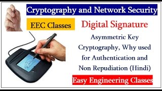 Digital Signature - Asymmetric Key , Why used for Authentication & Non Repudiation (Hindi)
