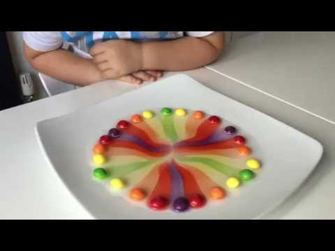 Kids science experiment with Skittles - YouTube
