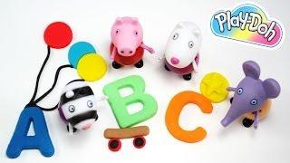Imparare le lettere con peppa pig, Imparare l'alfabeto per bambini, video divertente 2014