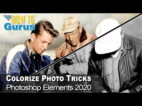 Photoshop Elements Colorize Photo Tool - Colorize Black and White Photo 2021 2020 2019 2018 Tutorial