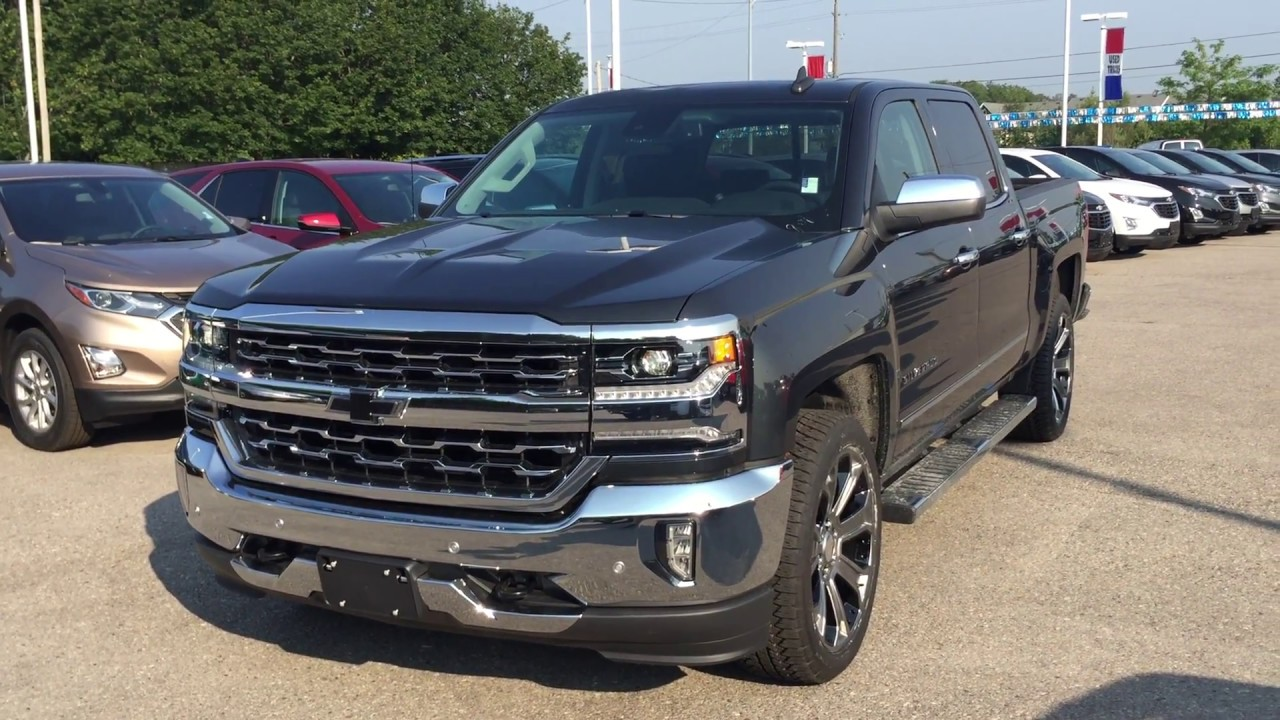 2018 Chevrolet Silverado 1500 Ltz Crew Cab Graphite Metallic Roy Nichols Motors Courtice On