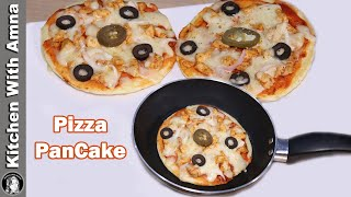 Pizza PanCake Recipe   2020 Ramadan Recipes   Kitchen With Amna