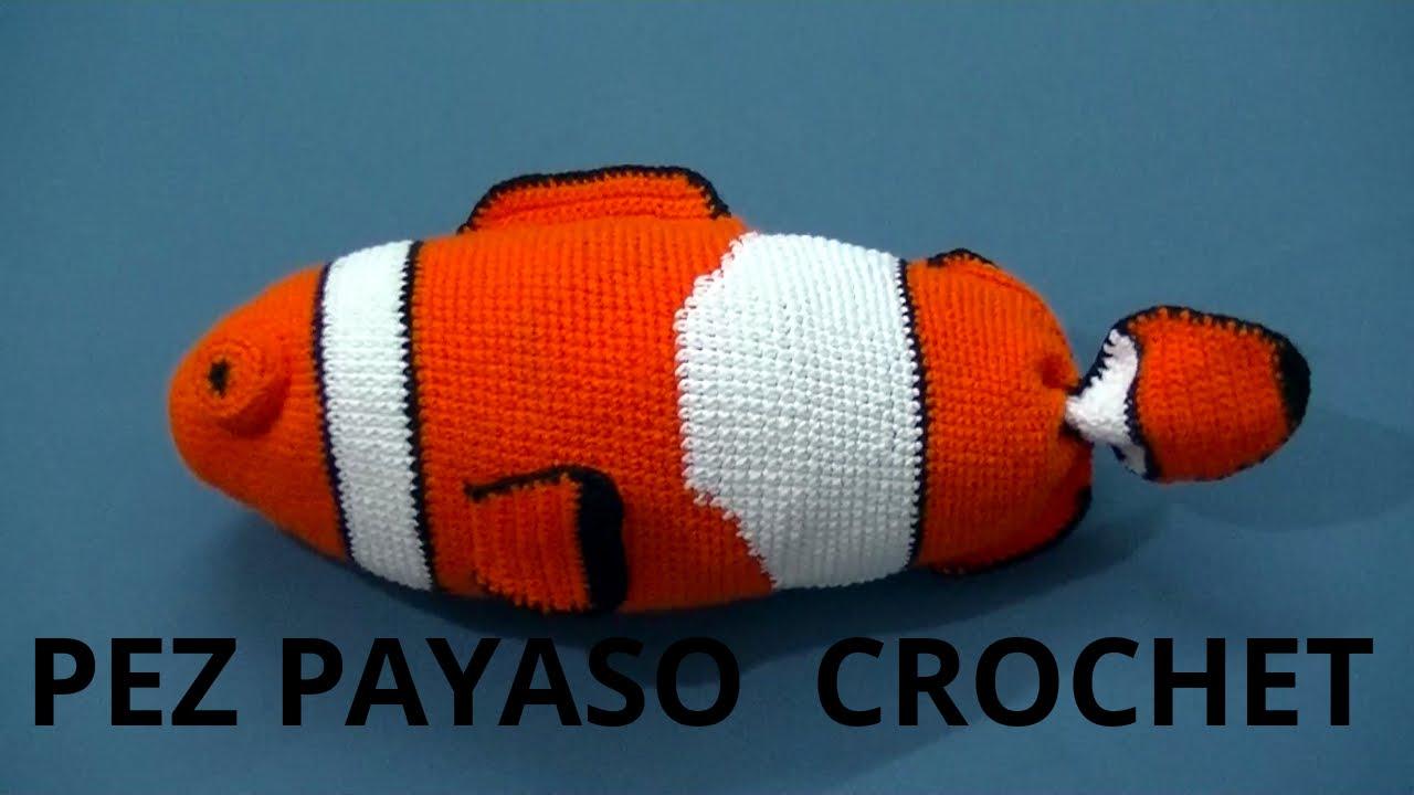 Amigurumi Pez Payaso en tejido crochet tutorial paso a paso. - YouTube