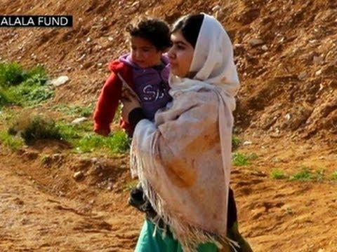 Malala helps Syrian refugee children