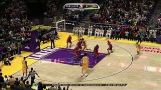 NBA 2K10 Xbox 360 Gameplay - Lakers vs. Cavs