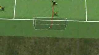 Ecuador final goal in game with Poland in 3D. World Cup