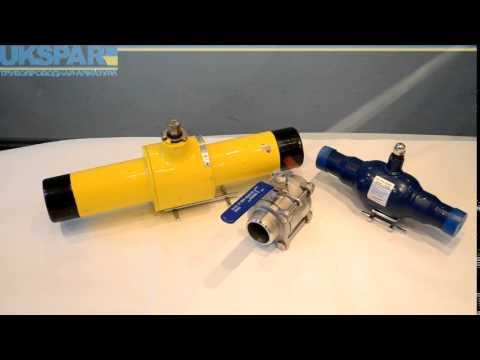 Видео Трубопроводная арматура на трубах ппу