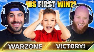 His FIRST EVER WIN! 😮 (Modern Warfare Warzone)