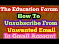 How to unsubscribe from unwanted email in urdu by the education forum