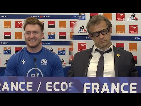 Stuart Hogg and Fabien Galthié face press after historic Scotland win | Six Nations 2021 | RugbyPass