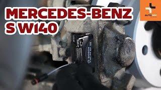 Cambiar Pastilla de freno delanteras y traseras MERCEDES-BENZ S-CLASS (W140) - instrucciones en video