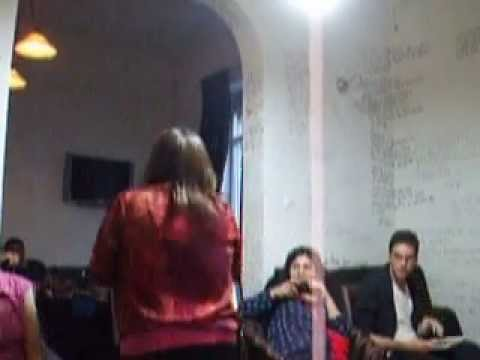 Jennifer Karmin poetry performance in Bucharest