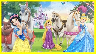 Disney PRINCESS Puzzle Games - Snow White, Rapunzel, Cinderella - ディズニープリンセス パズル