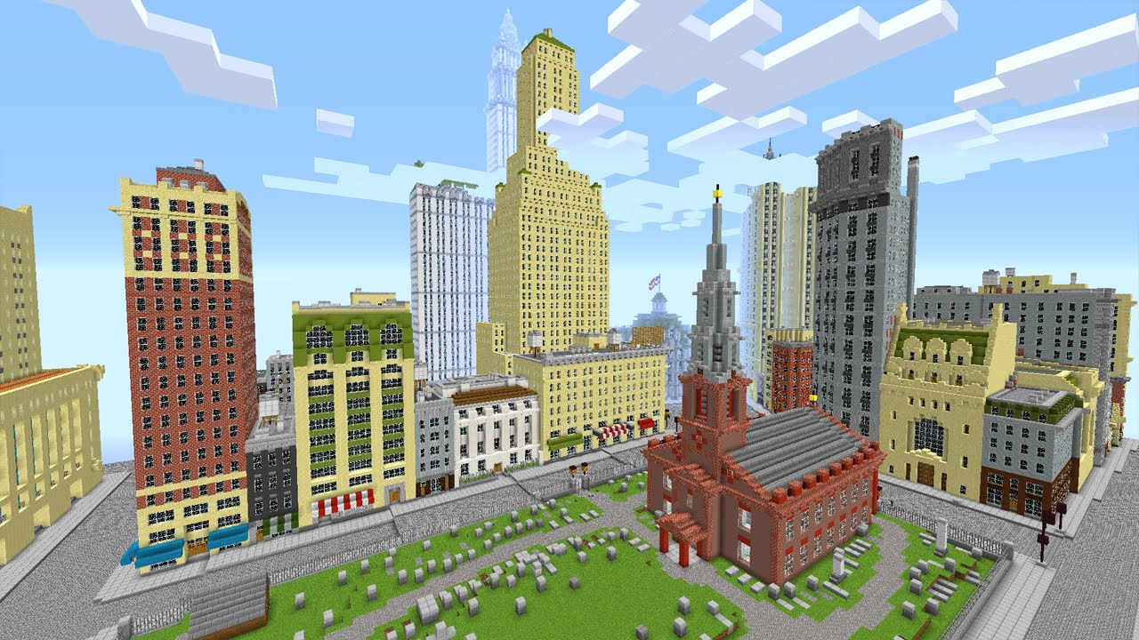 New York City In Minecraft Minecraft Map YouTube - Nyc map minecraft